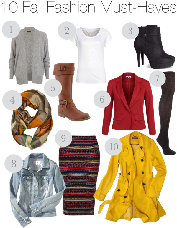 10 Fall Fashion Must-Haves