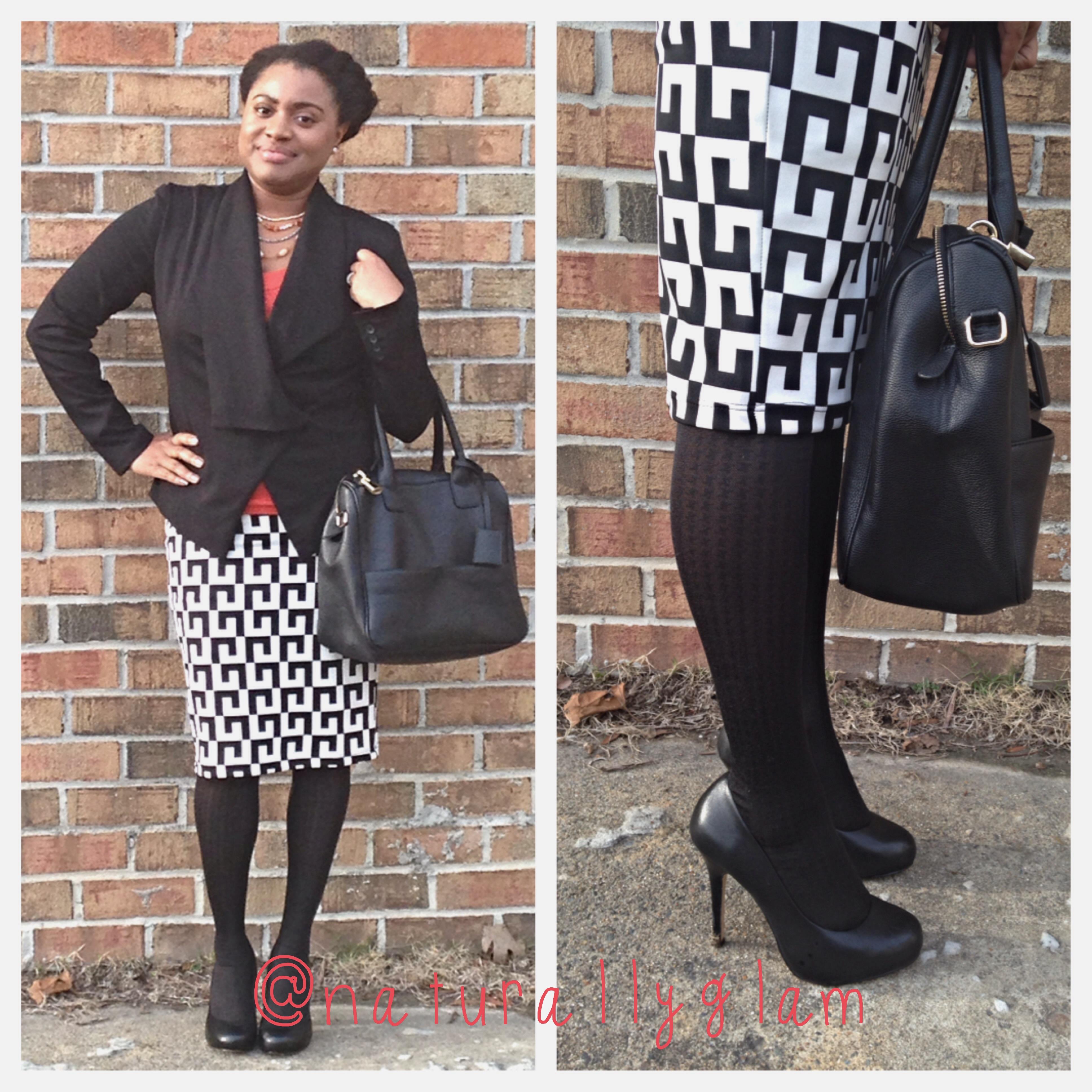 Black & White Bold Print Skirt