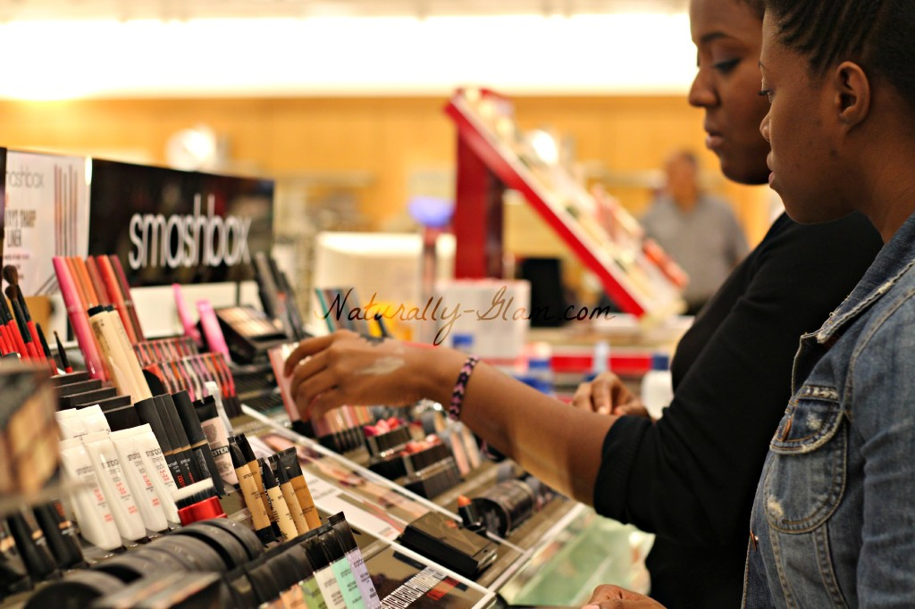 Smashbox Cosmetics station at Nordstrom at MacArthur Center