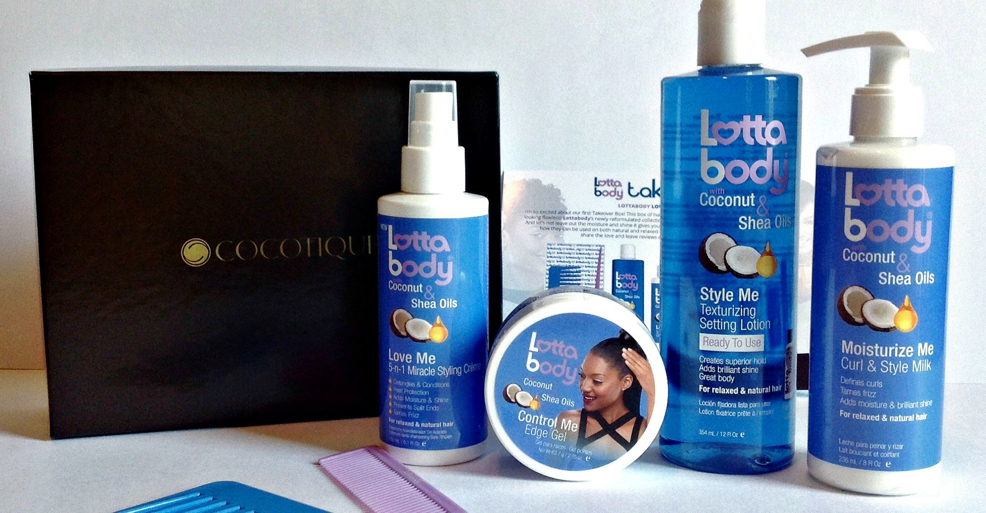 Lottabody Styling Products for Natural and Relaxed Hair