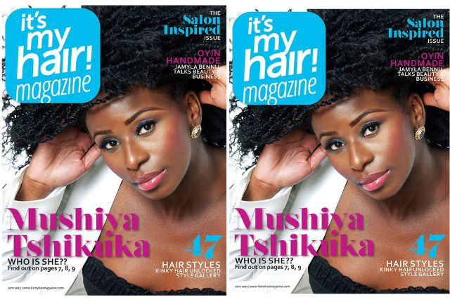 WEtv Star Mushiya Tshikuka as It's My Hair Magazine's Cover Girl