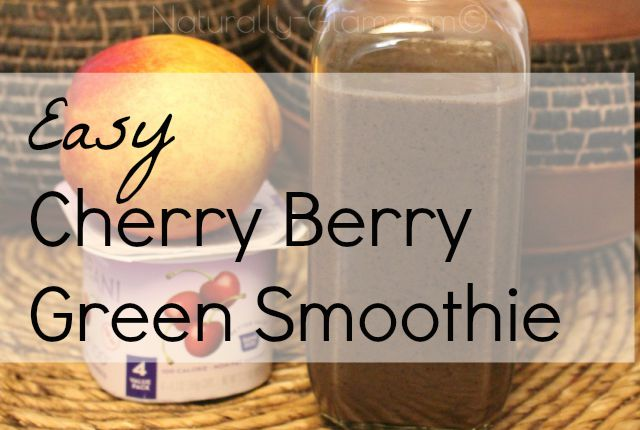 Easy Cherry Berry Green Smoothie | Healthy Recipes