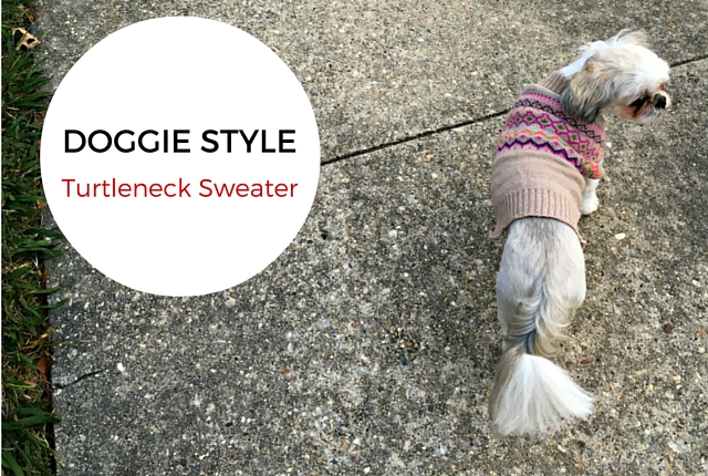 Dog Turtleneck Sweater