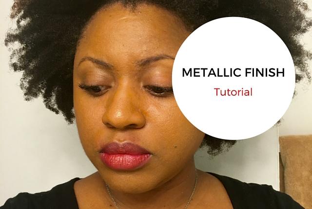 Metallic Finish Lipstick Tutorial