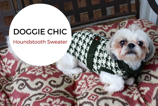 Dog Houndstooth Sweater | Doggie Chic