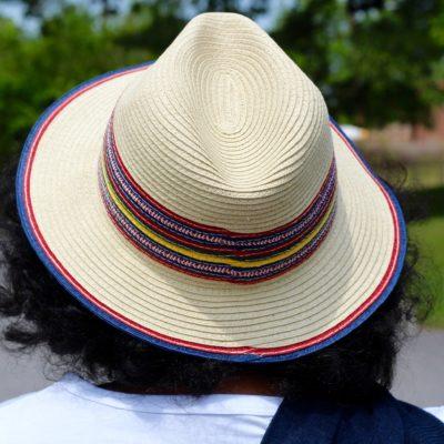 Colorful Coachella Trim Hat