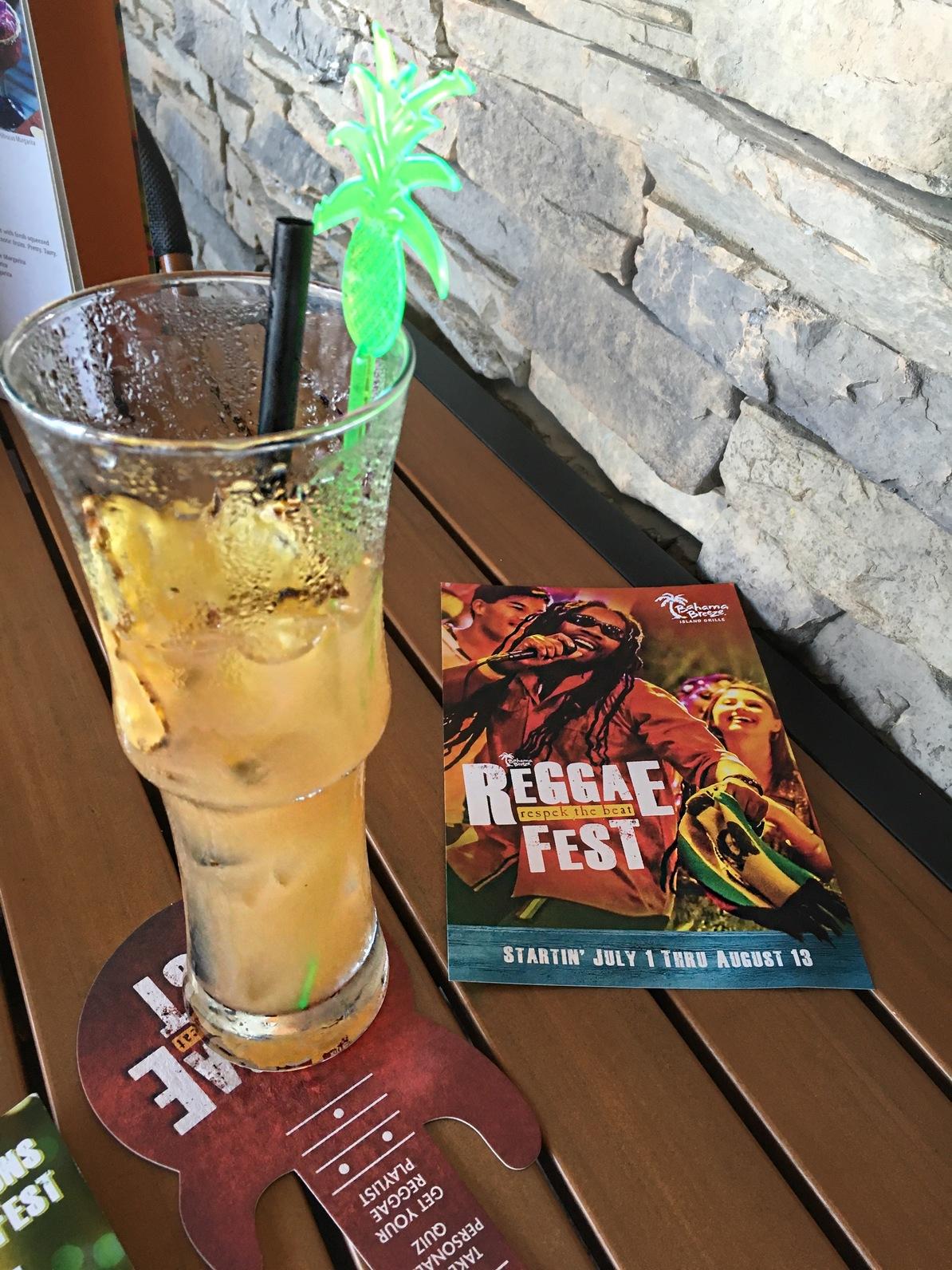 One Love cocktail at Bahama Breeze Reggae Fest