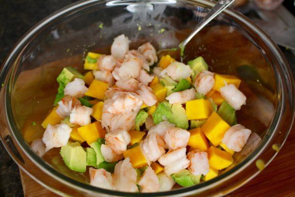 Shrimp Mango Avocado Salad