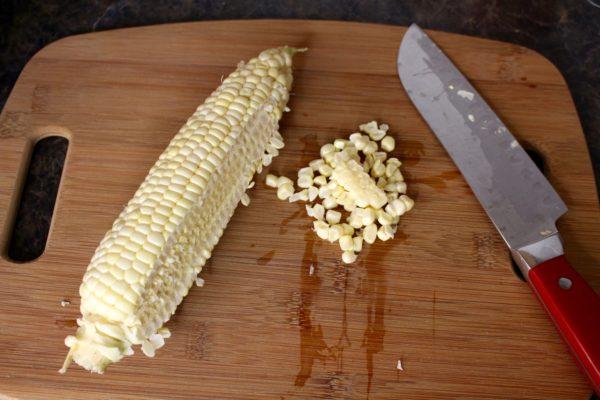 corn kernels cut off the cob