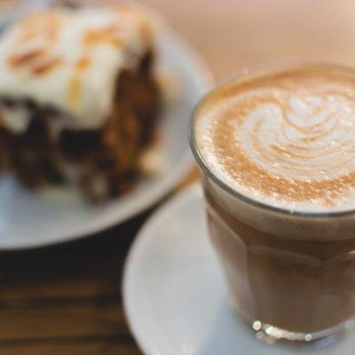 Flatwhite coffee close up in Berlin