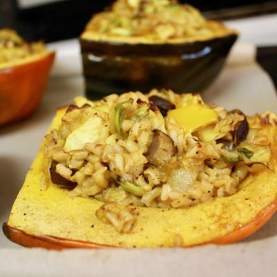 Easy Roasted Stuffed Acorn Squash