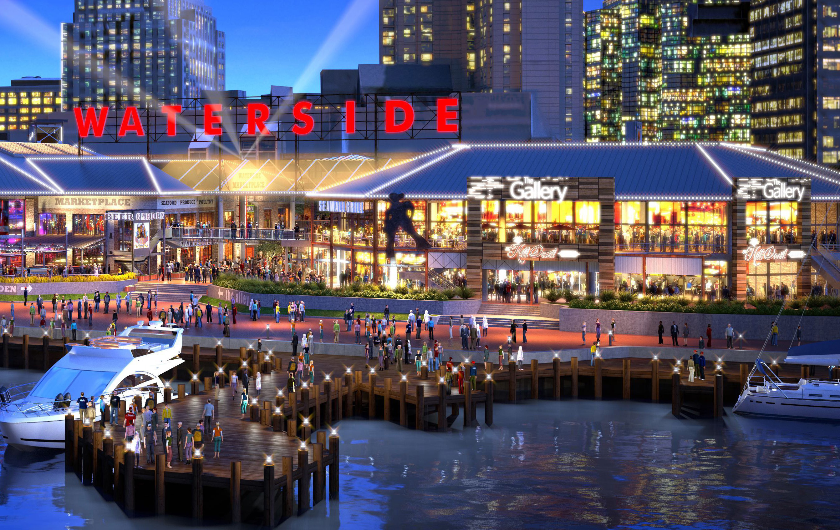 waterside district exterior