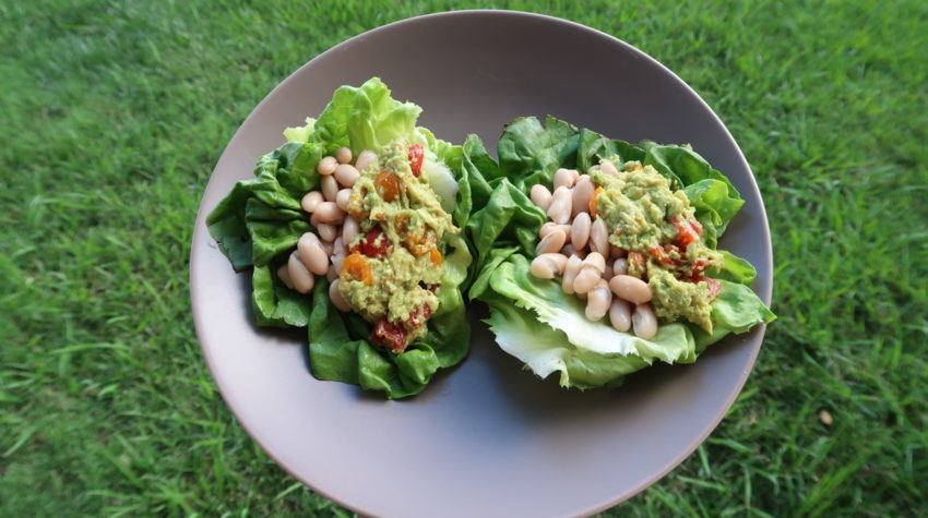 Healthy Eating, Suja One Day Renewal Meal Plan, White Kidney Bean Lettuce Cups