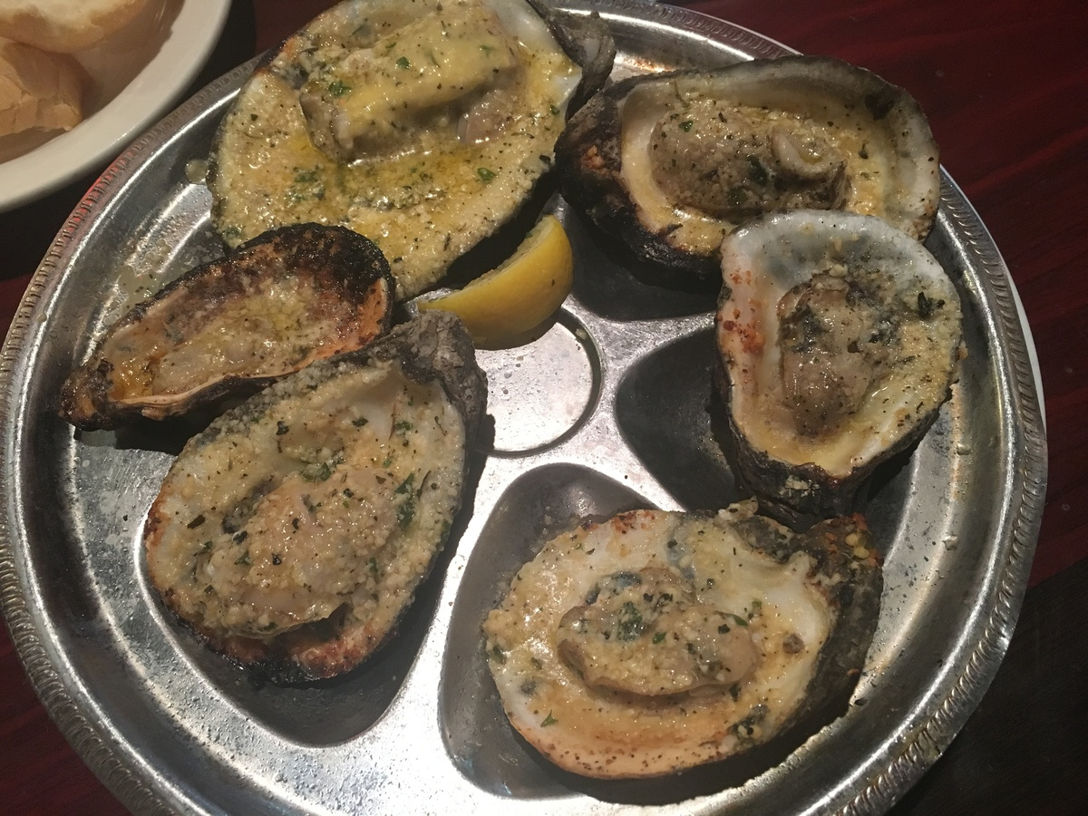 pier 424 seafood, charbroiled oysters