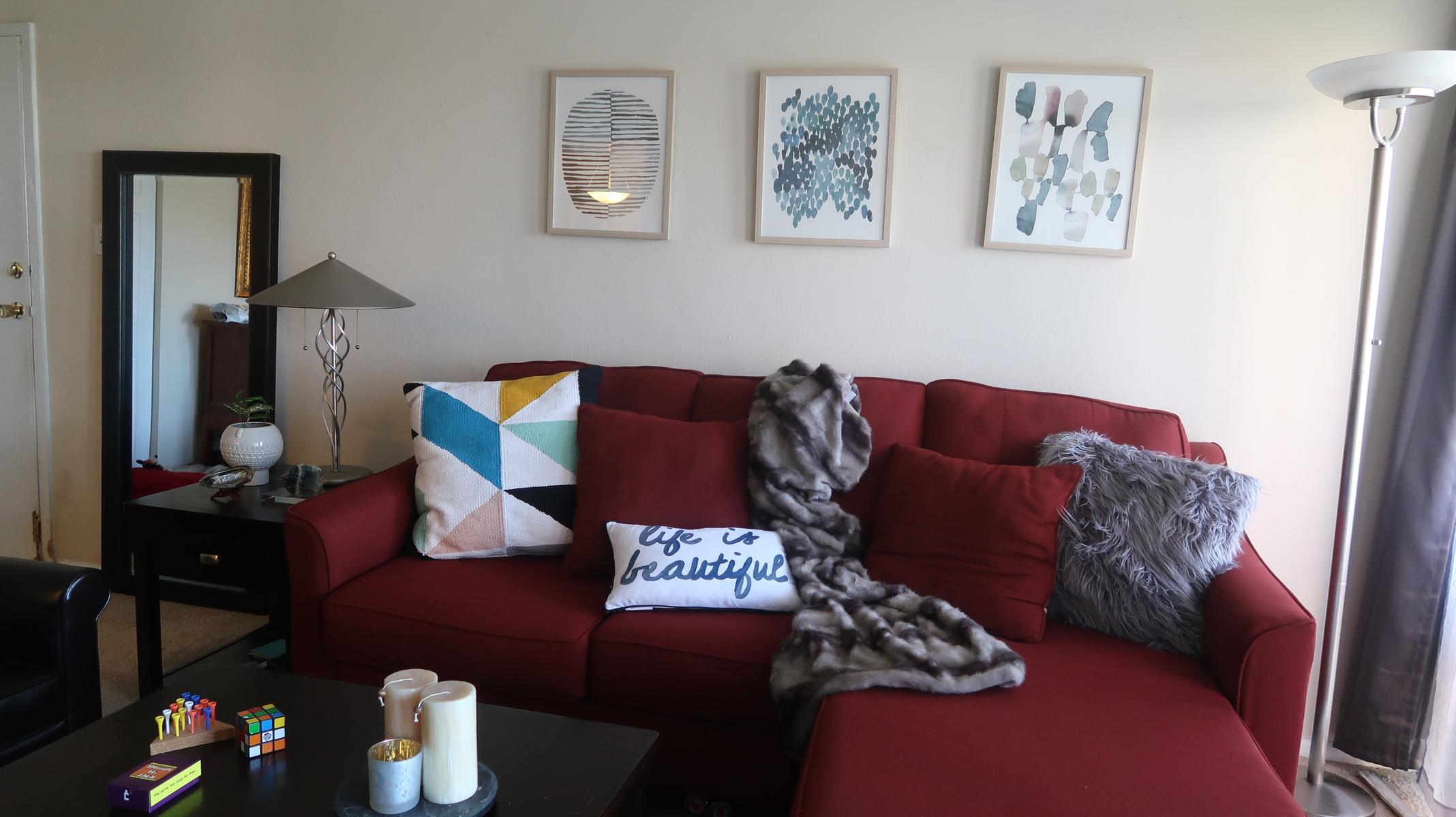 living room red sofa home decor25  naturally glam