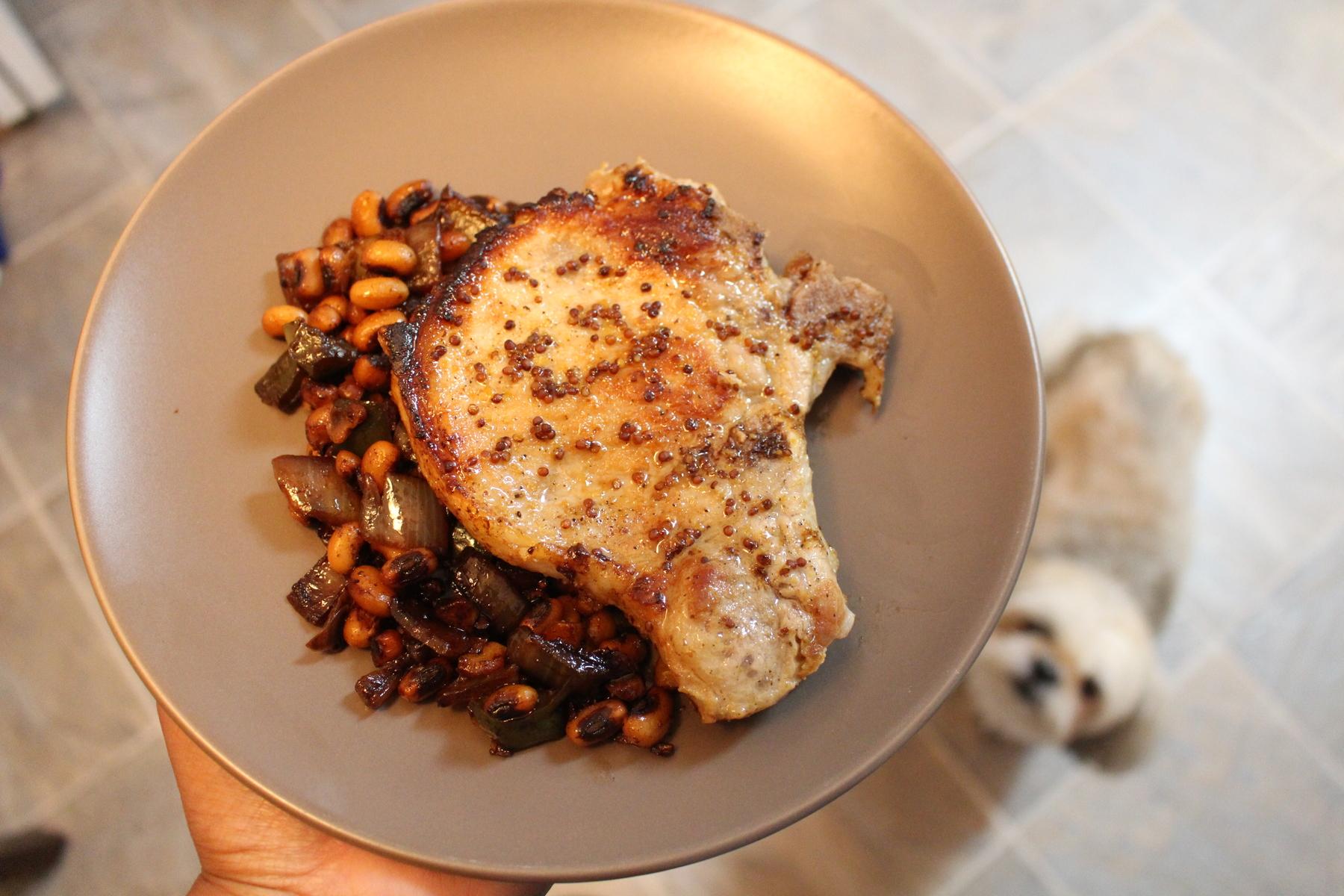 Whiskey Maple Glazed Pork Chops, Black Eyed Peas, Food Blogger, Virginia Blogger